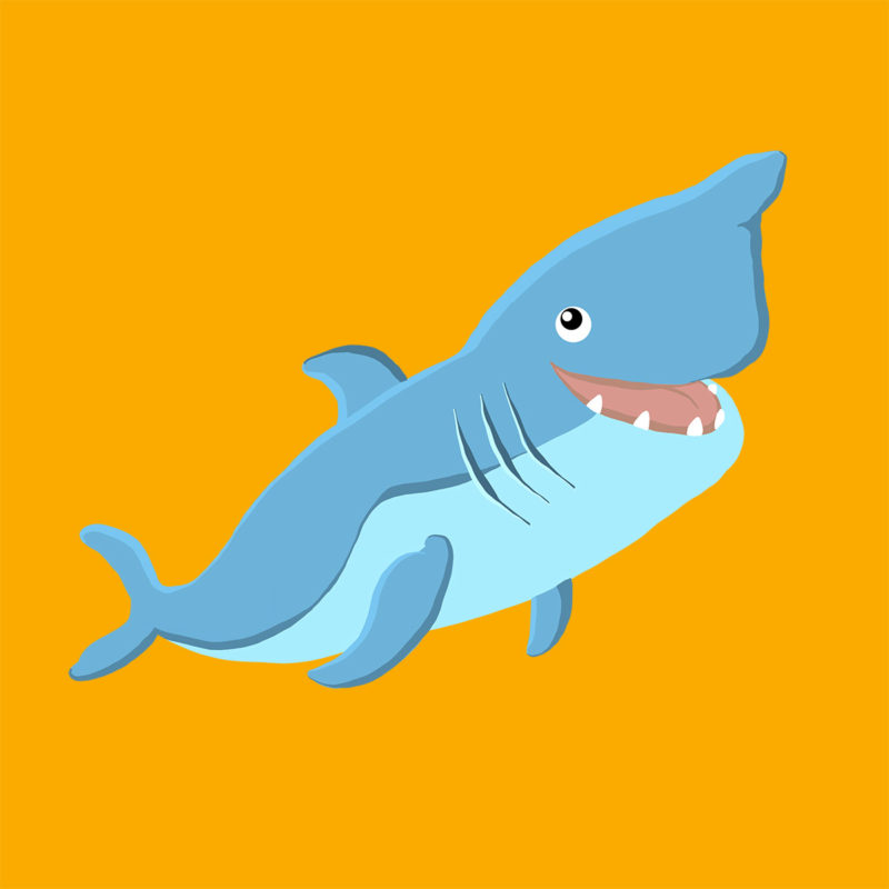 white shark dive design