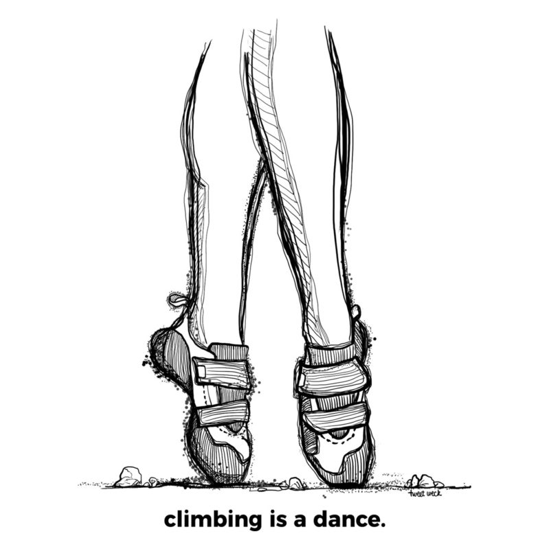 climbing is a dance - Kletter T-Shirt Aufdruck