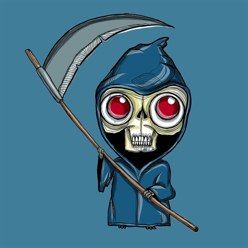 T-Shirt Halloween Sensenmann - Kletter T-Shirt