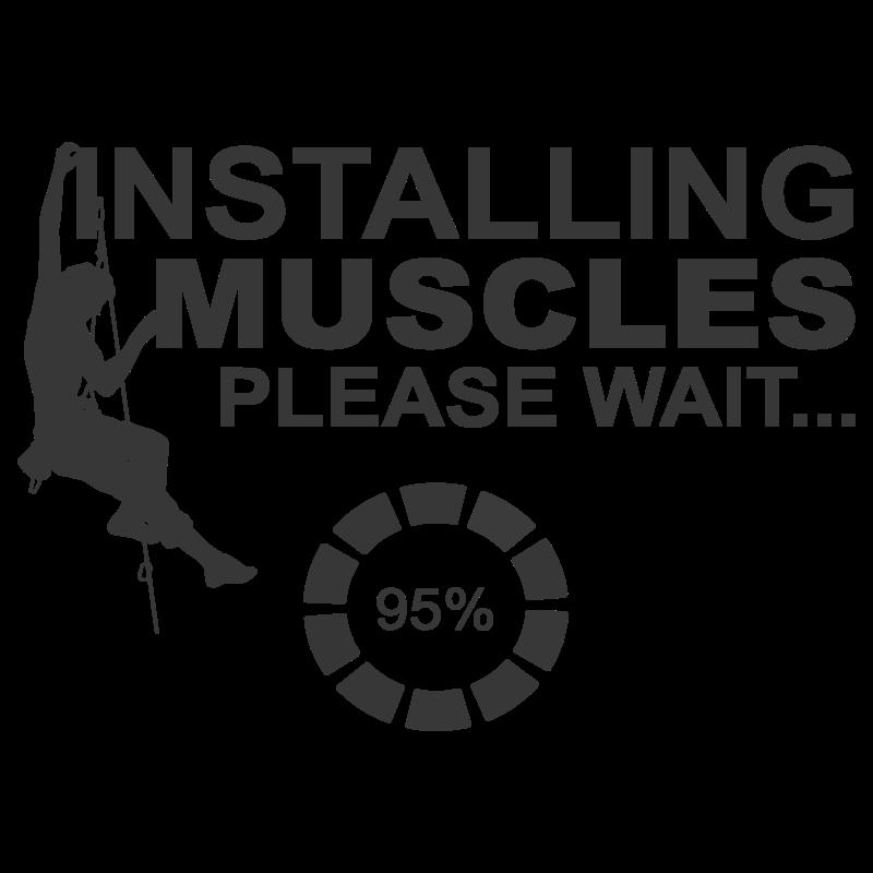 installing muscles rock climbing design black