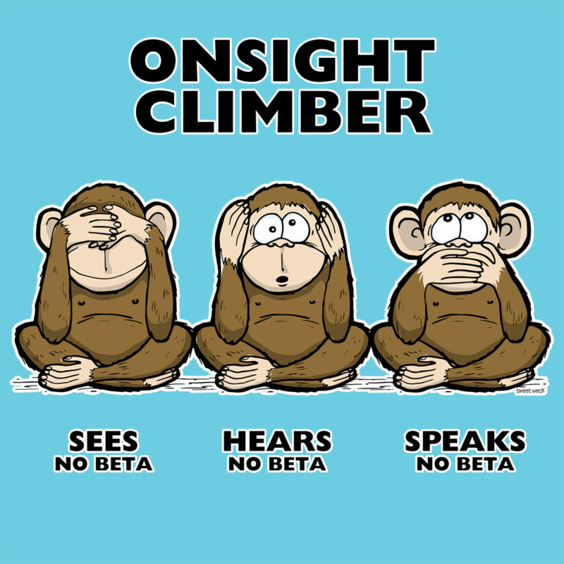 On Sight climber - three wise monkeys - Kletter T-Shirt