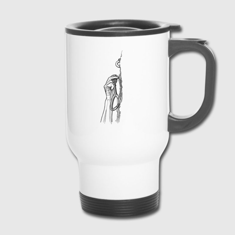 almost there climbing design thermo coffee and tea mug