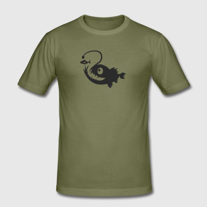 angler fish black dive design men and women T-shirts