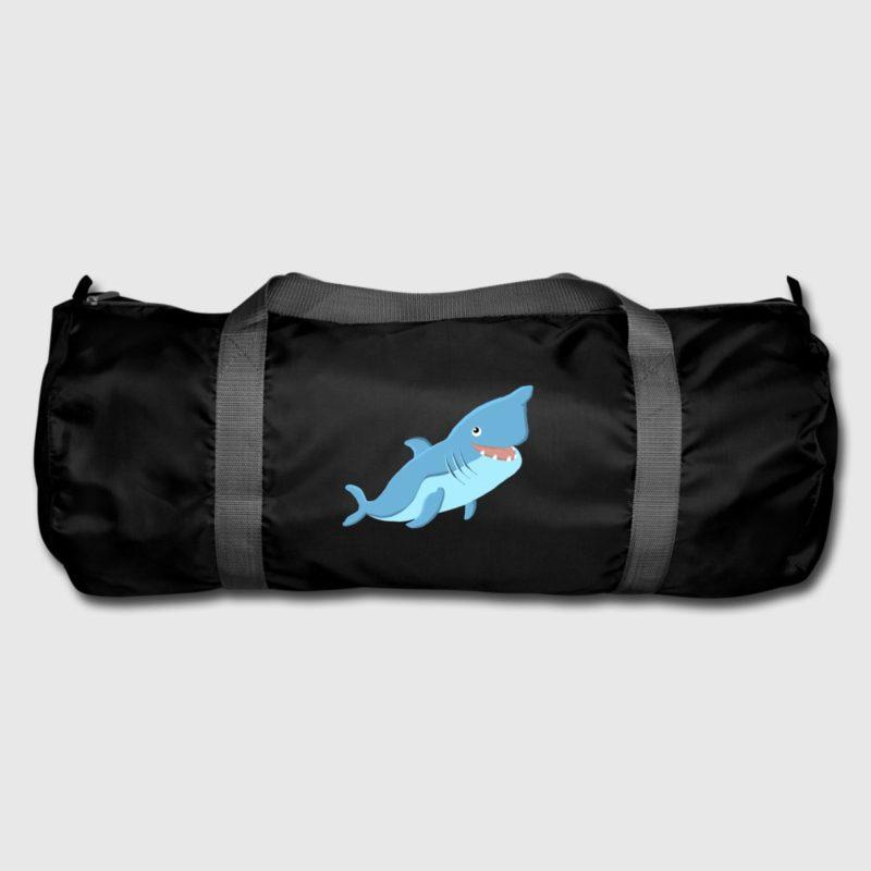 blue shark dive design sports duffel bag