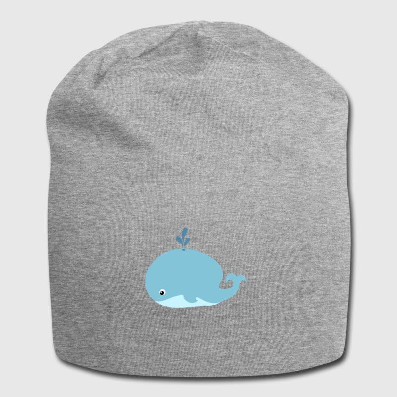 blue whale dive design teddy bear beanie