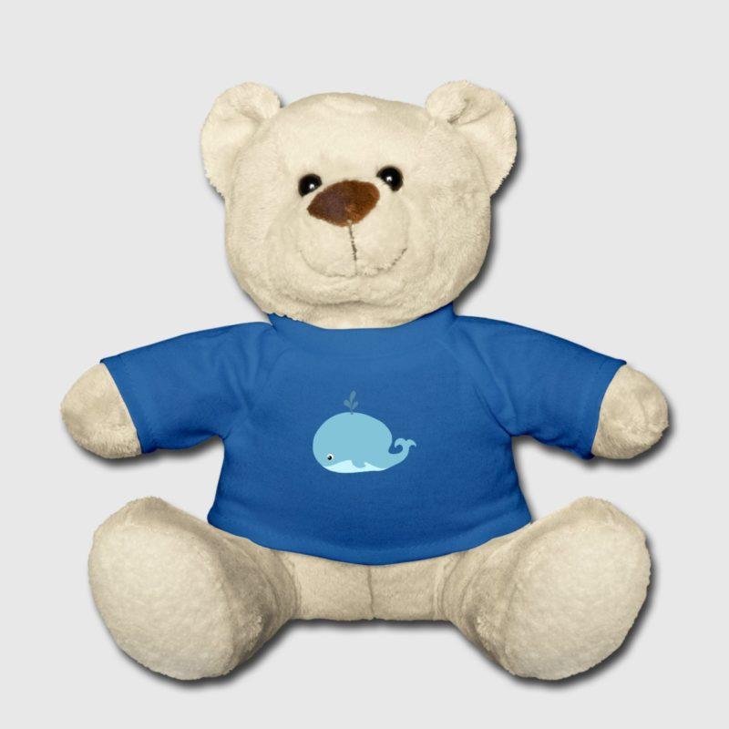 blue whale dive design teddy bear