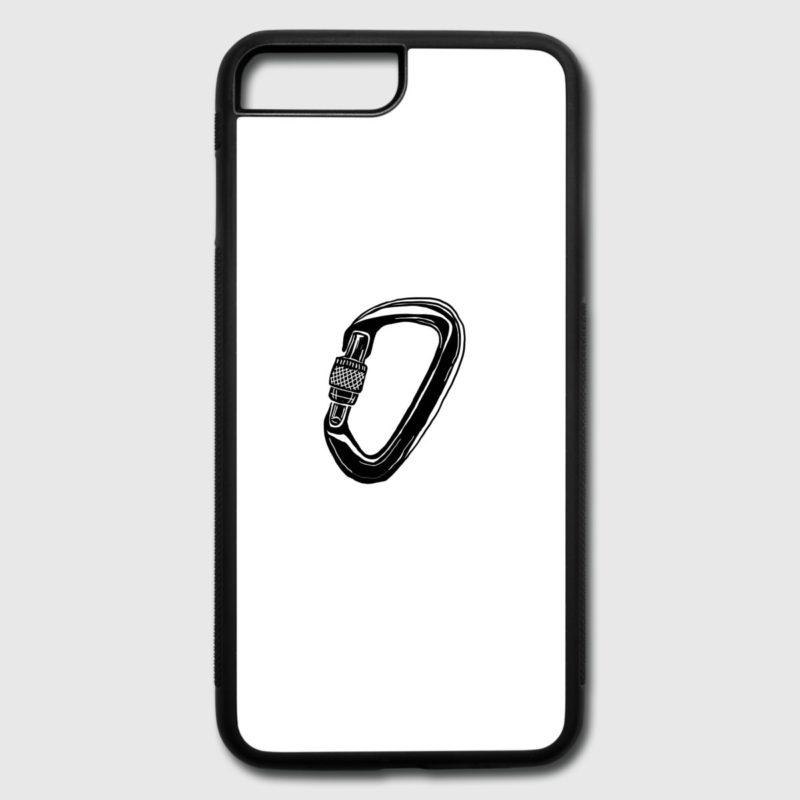 iPhone Hülle, Bumper, Case mit Aufdruck Kletter Karabiner