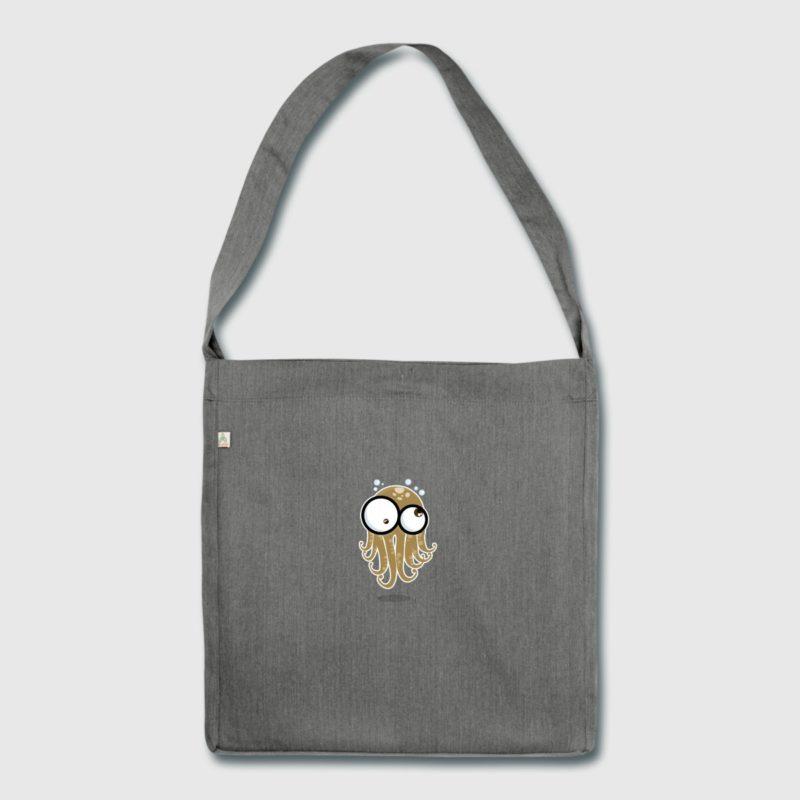 octopus gloo-gloo shoulder bag recycling material