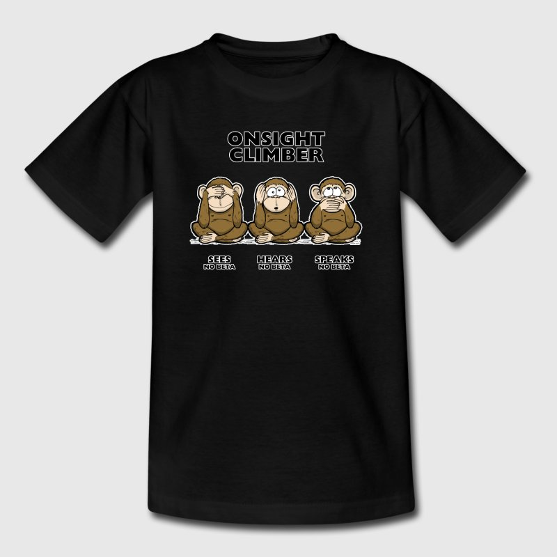 On Sight climber - three wise monkeys Kinder Kletter T-Shirt