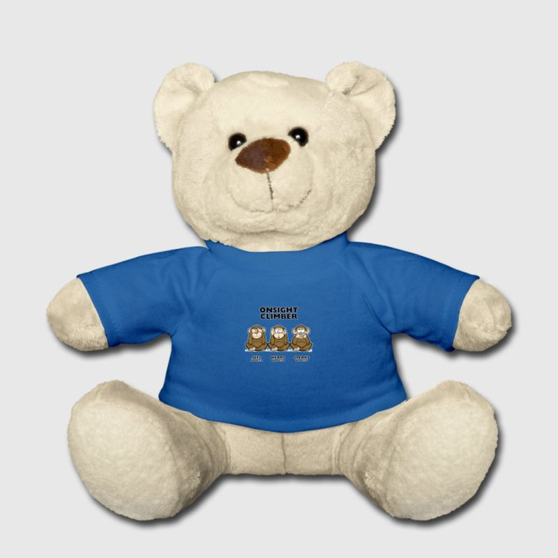 On Sight climber - three wise monkeys Teddy mit Kletter T-Shirt