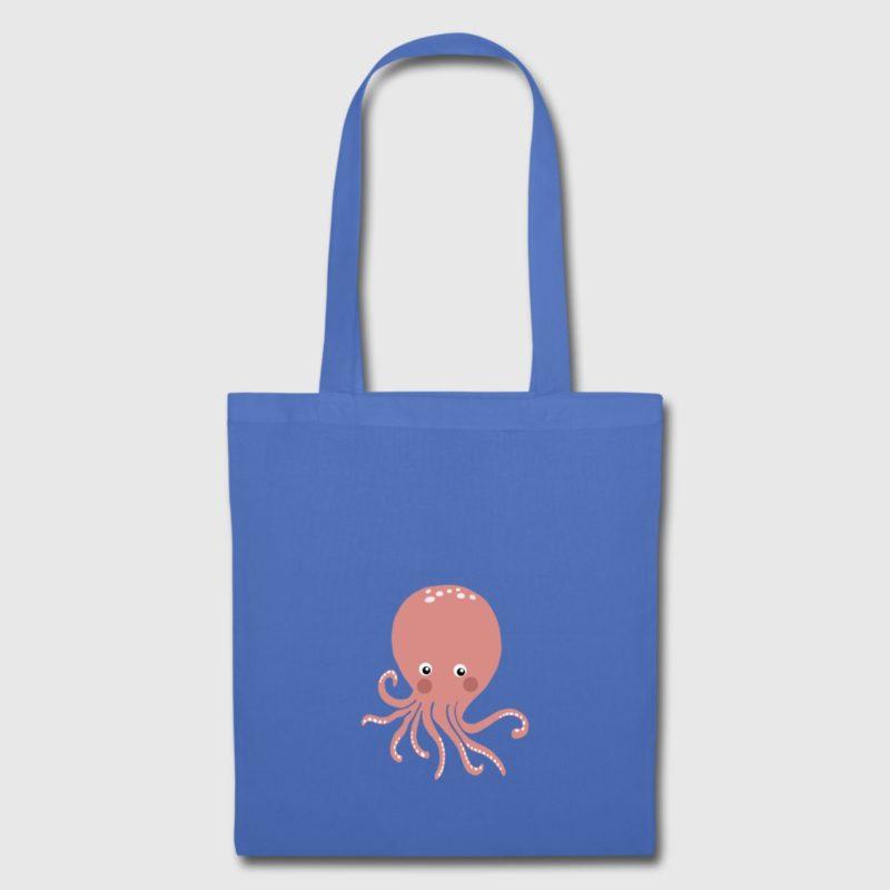 pink octopus dive design shoulder bag