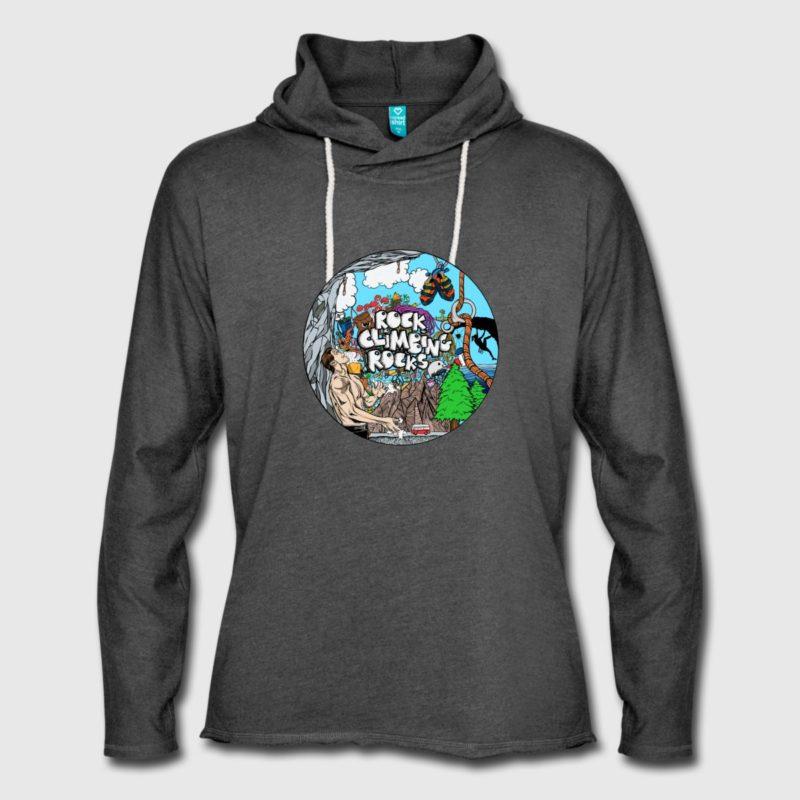 Rock Climbing Rocks Kapuzensweatshirt, Hoodie - Kletter T-Shirt