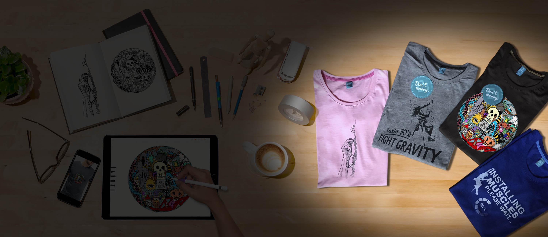 Kletter T-Shirts und Tauch T-Shirts