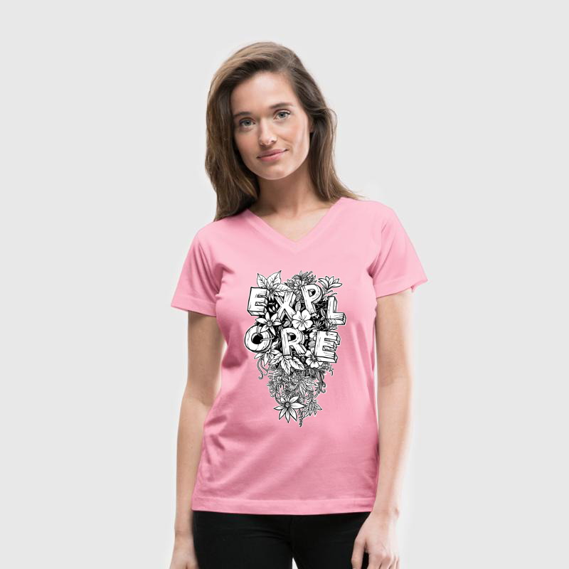 Explore - Flower Power T-Shirt Design für Natur Liebhaber und Outdoor Enthusiasten - Kletter T-Shirt