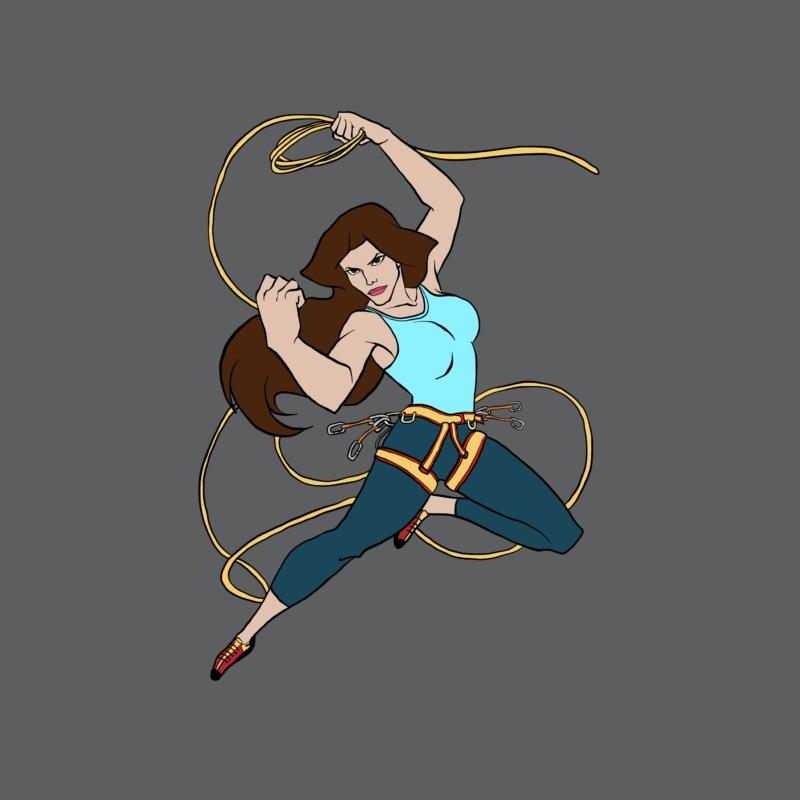Super Frau mit Kletter Seil - Kletter T-Shirt
