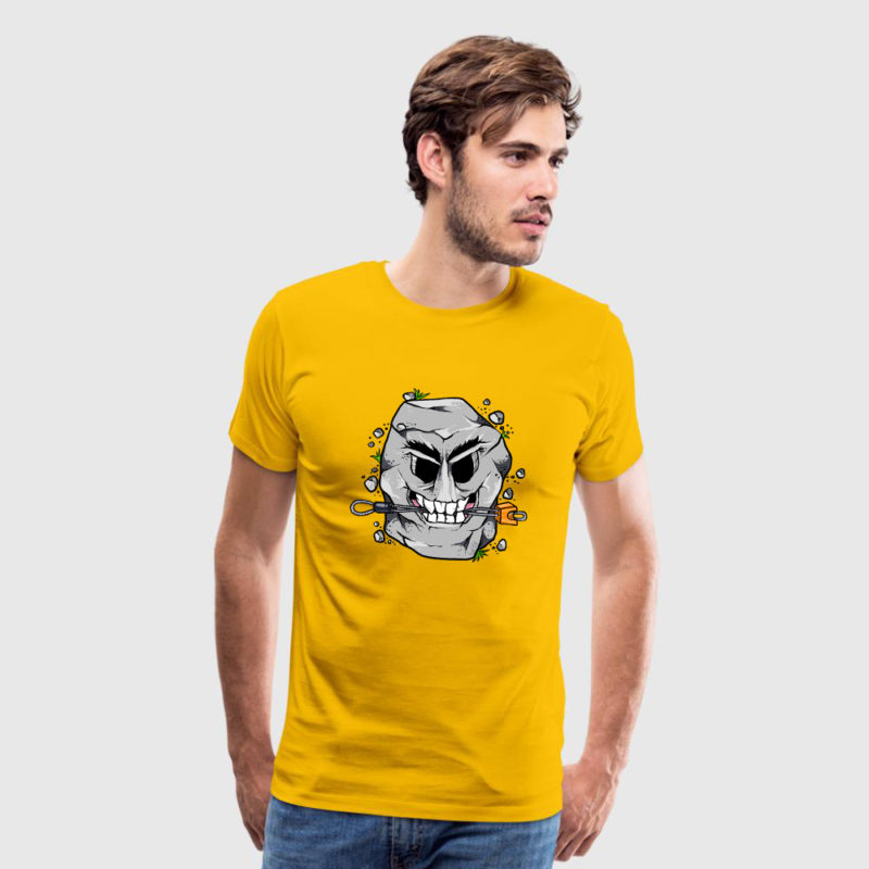 Rock - Klemmkeil - Kletter T-Shirt